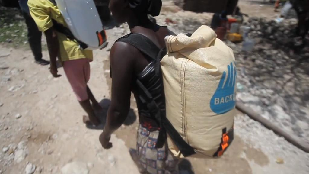 The WaterWear pack allows those in developing countries to more easily transport water