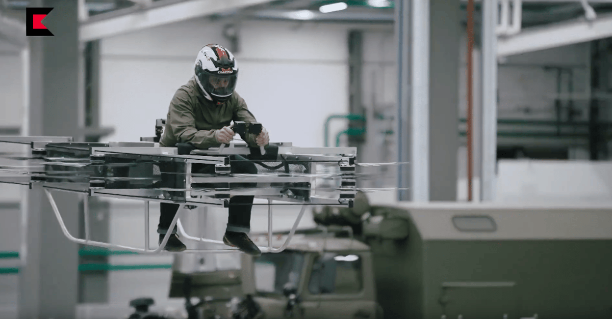 Thehoverbikerecently revealed by the Russian arms manufacturer