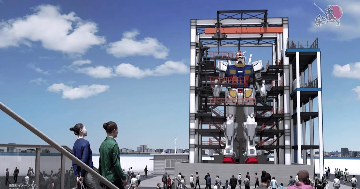 Japan is building a 60-foot-tall, walking Gundam robot