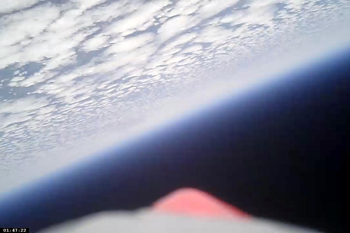 A view of Earth captured from the paper airplane at 96,563 feet (Photo: 1st Lt Gary Brown)