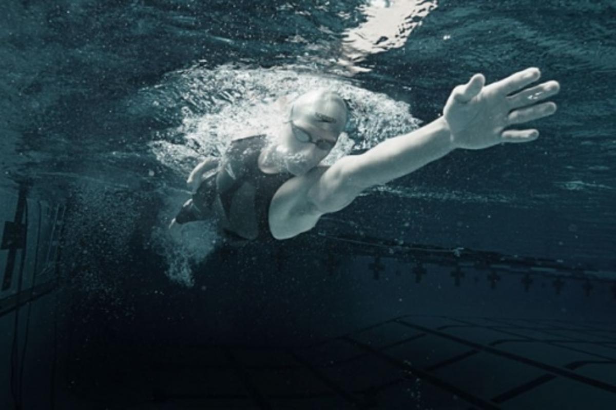 Ryan Lochte (USA) swims in the new Speedo LZR RACER