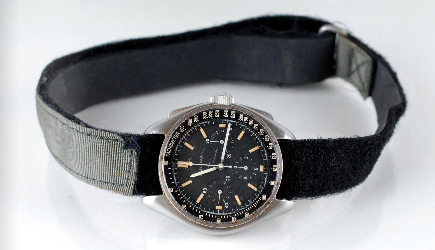 The Bulova Wrist Chronograph worn by Commander David Scott on the Moon