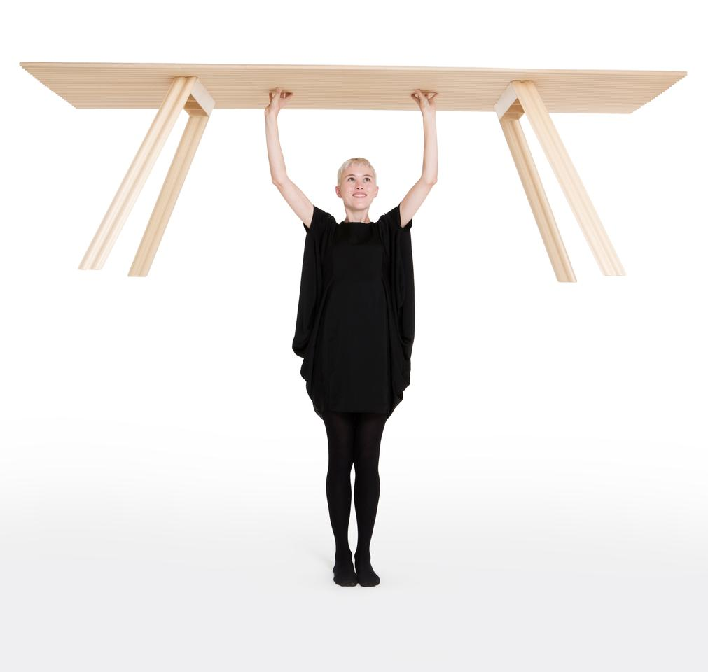 "British industrial designer, Benjamin Hubert has created ""the world's lightest timber table"""