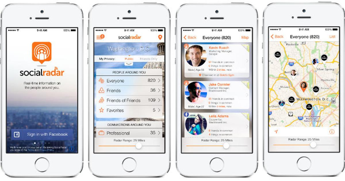 SocialRadar app tells you about the people around you