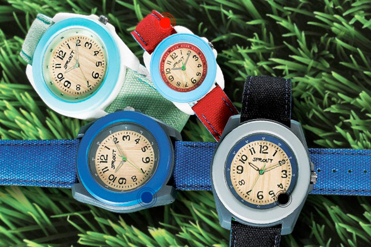 Sprout watches are reportedly 80-86% eco-friendly by weight