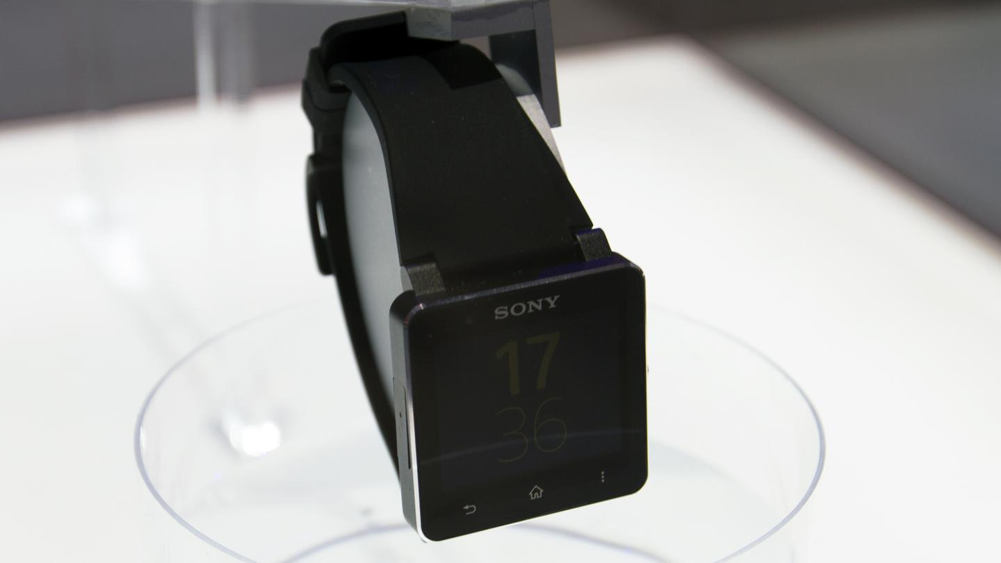 The Sony Smartwatch 2 on the show floor at IFA