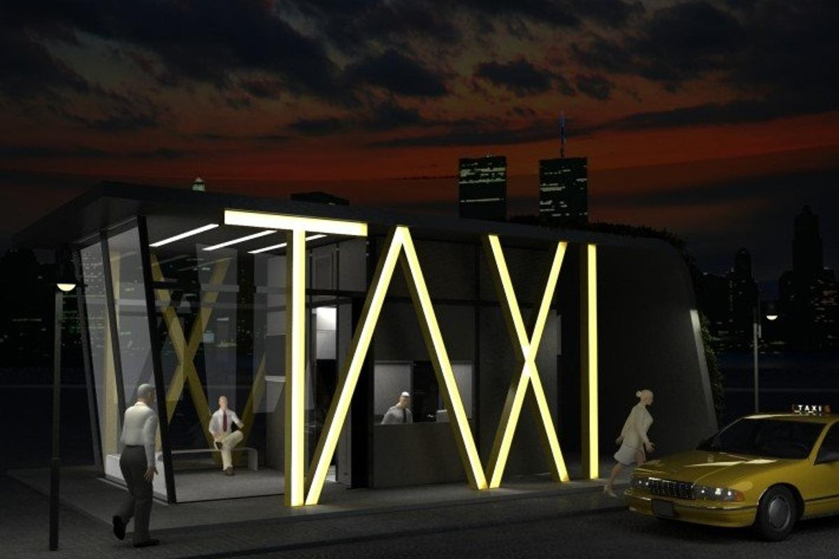 How the TAXI station would look at night