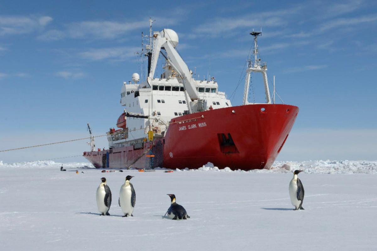 The team will travel to the Larsen C Ice Shelf on the BAS research vessel RRS James Clark Ross