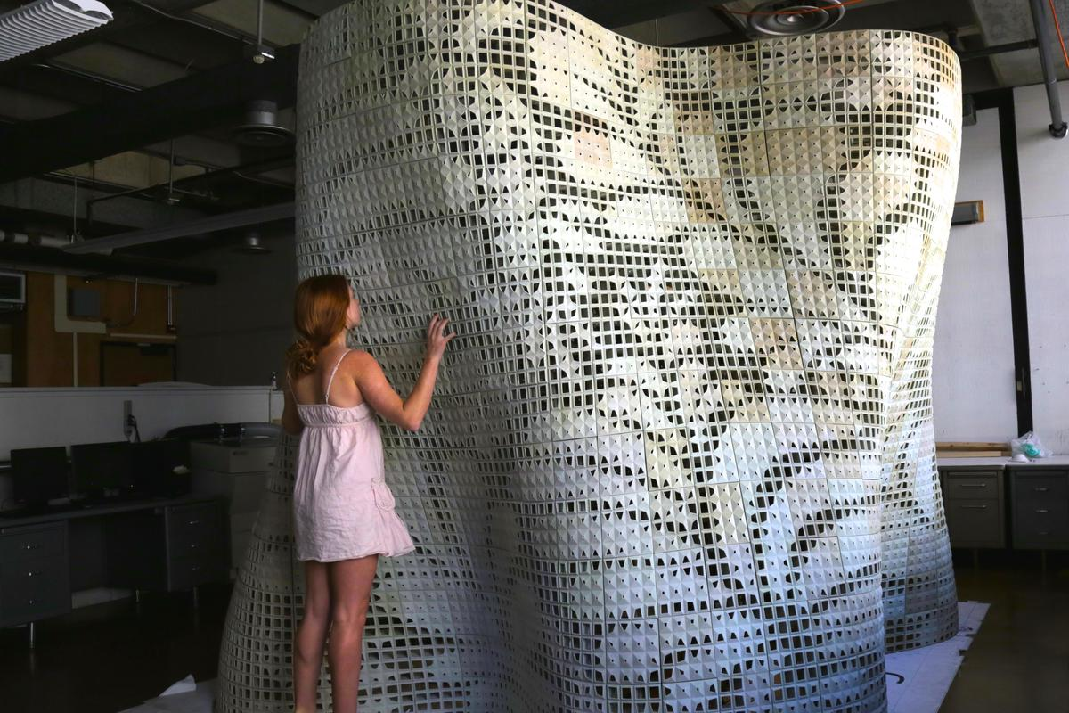 The Bloom pavilion is said to be the first and largest powder-based 3D-printed cement structure built to date (Photo: UC Berkeley)