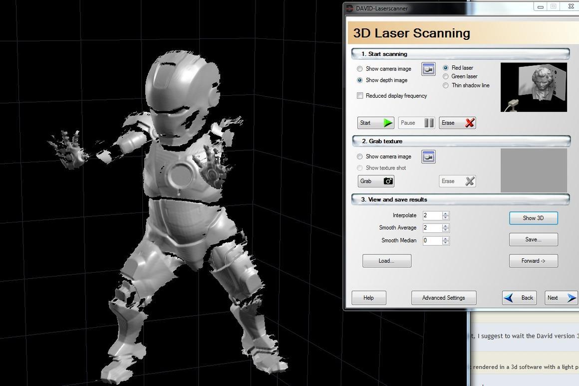 David Laser Scanner offers DIY, low-cost 3D recording solution