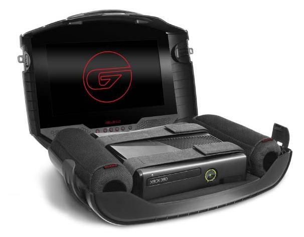 The GAEMS G155 case protects and secures your game console, and provides an HD LED screen while on the go