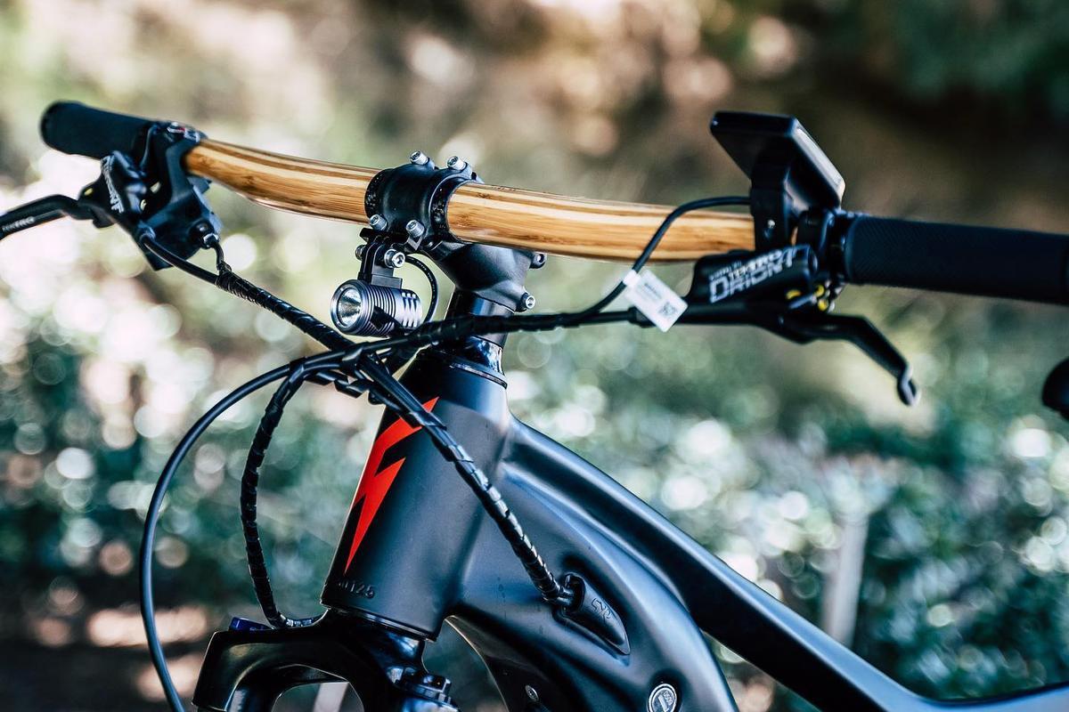 Passchier's Gump bamboo handlebar reportedly absorbs road vibrations better than aluminum alloy or carbon fiber
