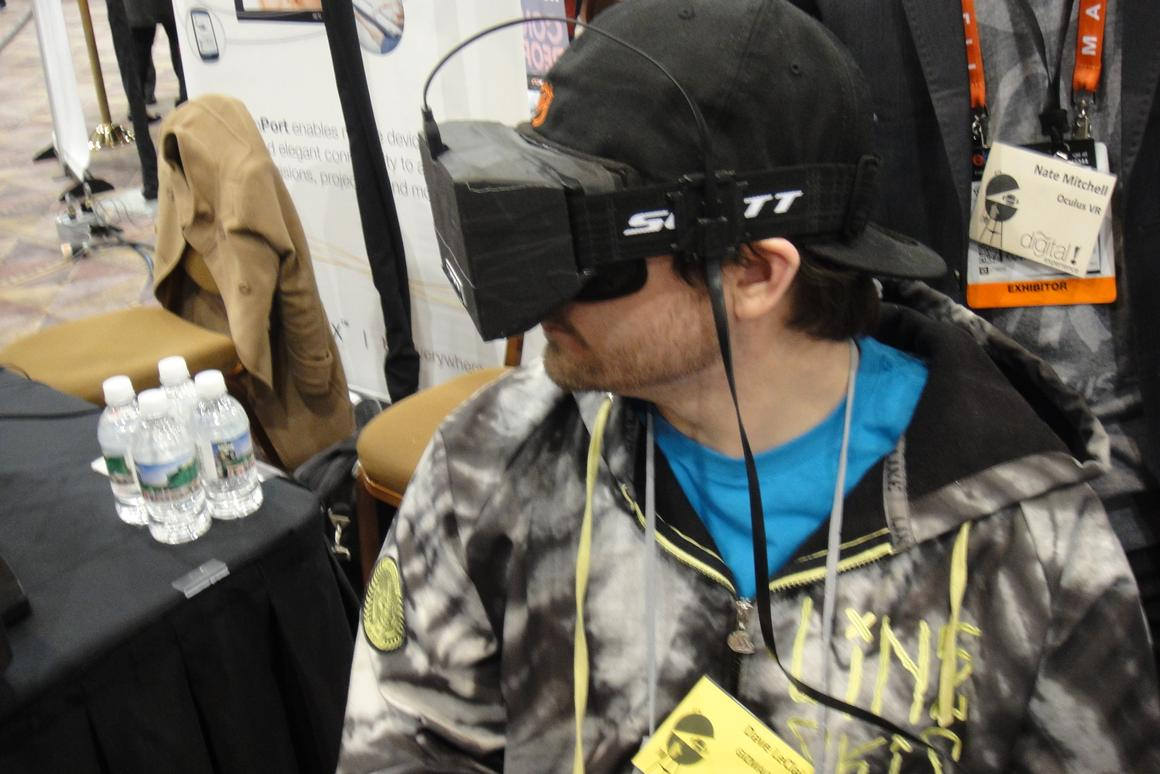 With the lightweight components, wearing the Oculus VR headset is no less cumbersome than any ordinary pair of goggles