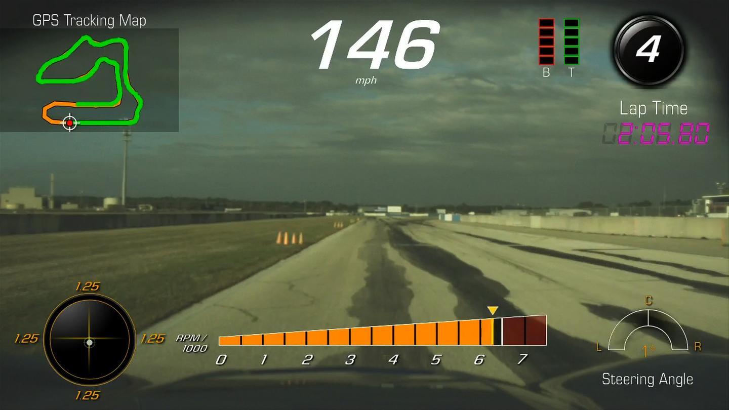 The Performance Data Recorder films video and tracks key performance data