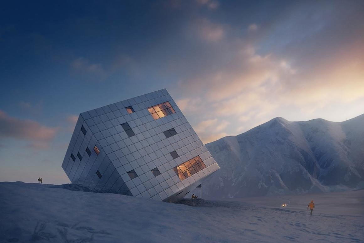 The Cuboidal Mountain Hut concept, by Atelier 8000 (Image: Jan Cyrany/Atelier 8000)