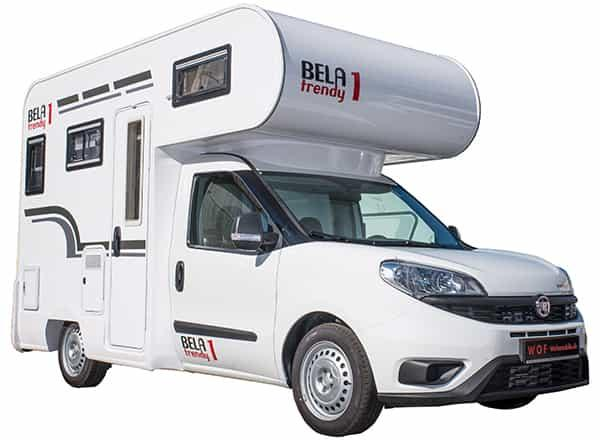 The Bela Trendy 1 is a mini-motorhome that packs everything a pair of travelers need