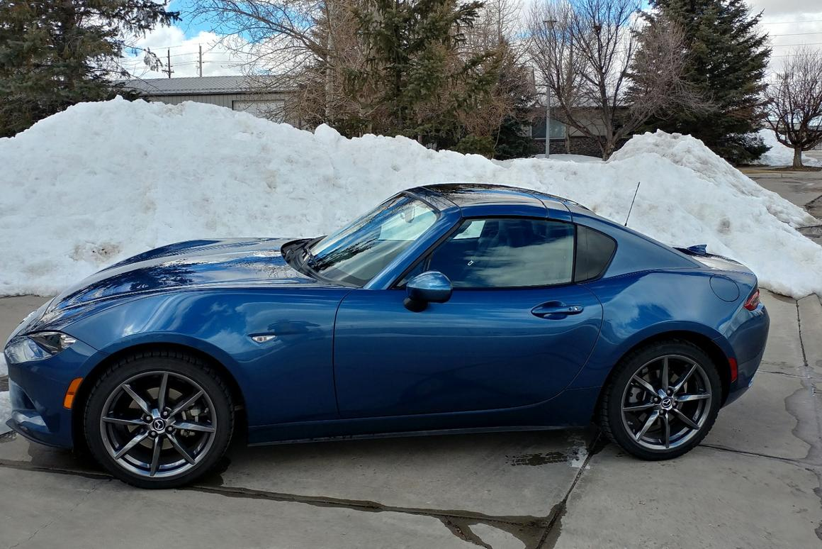 Not necessarily the ideal scene for a 2019 Mazda MX-5 Miata RF, but the new hardtop does make it look cozier