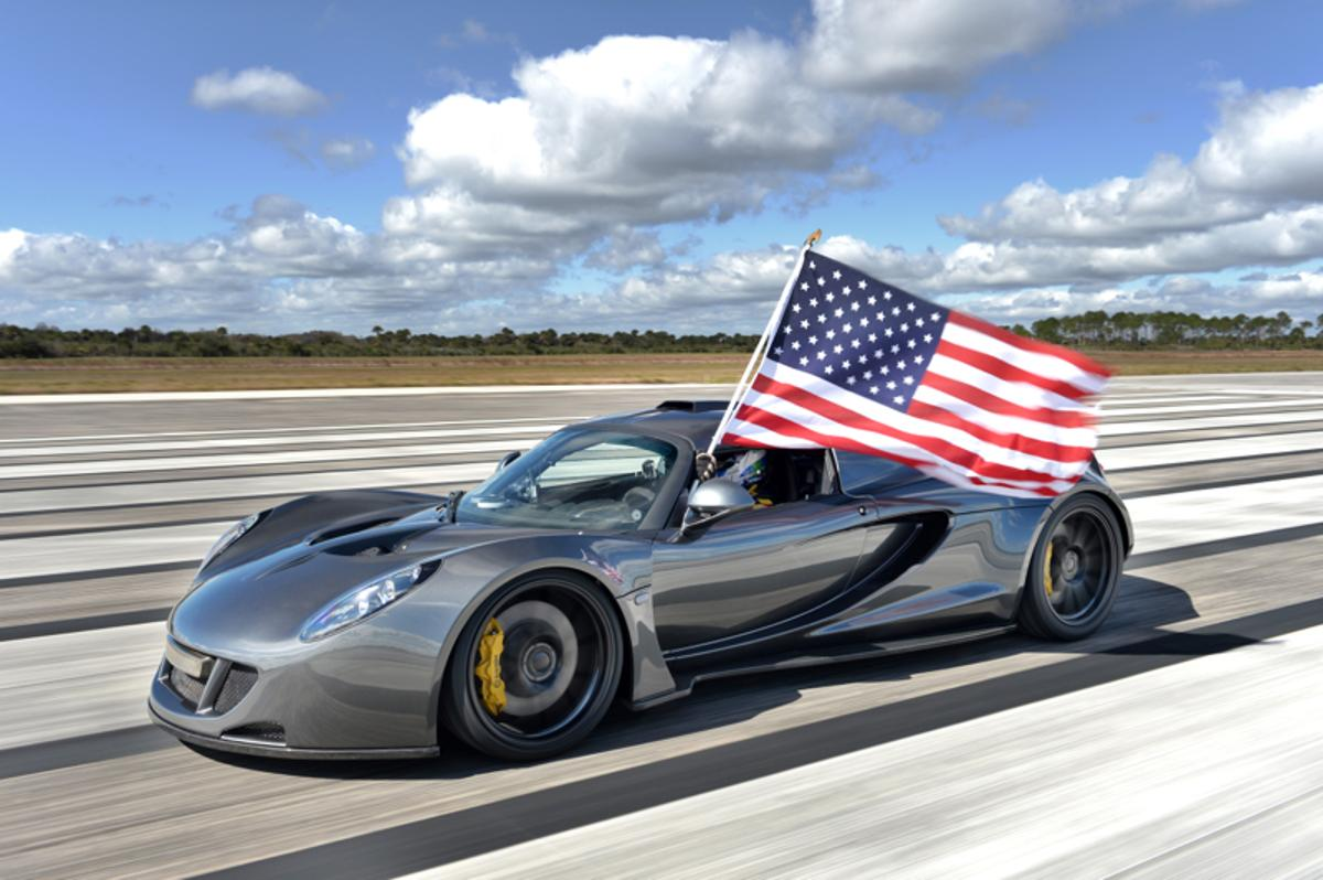 The Hennessey Venom GT hit 270.49 mph on February 14, 2014