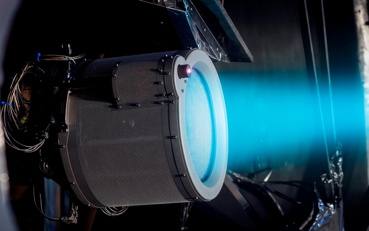 The T6 ion thruster will help send BepiColombo to Mercury