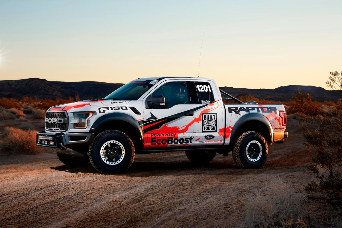 The Raptor is available in four or two door bodystyles, but the off road racer in two door only
