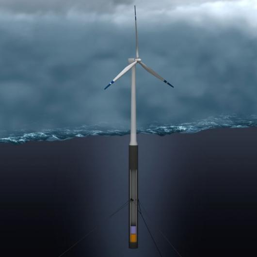 The HyWind-prototype will be situated around 6.2 miles off the west coast of NorwayPhoto: StatoilHydro