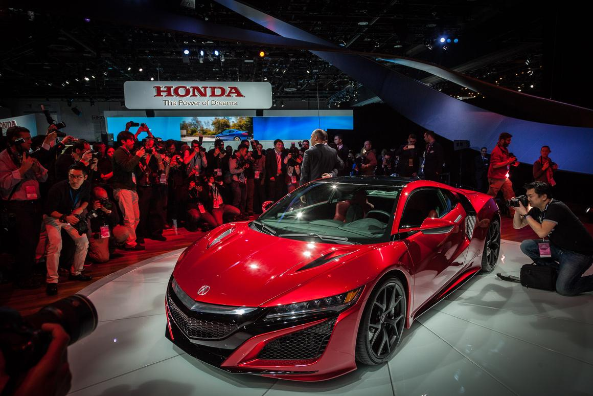The production spec Acura NSX Version 2.0