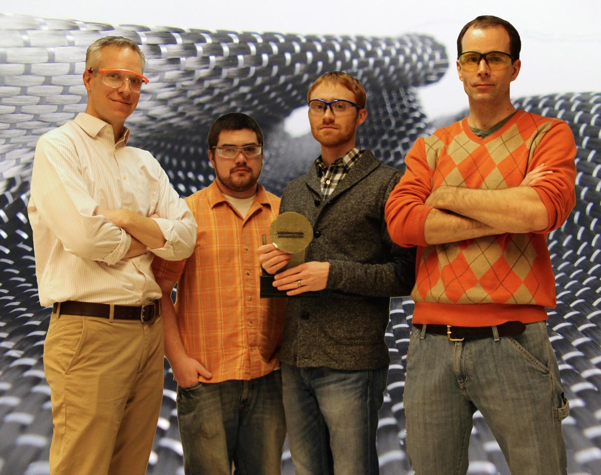 The team of researchers, left to right: Prof. Al Crosby, Dan King, Mike Bartlett and Prof. Duncan Irschick