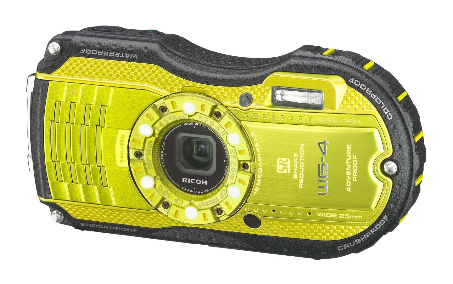 The Ricoh WG-4 and Ricoh WG-4 GPS feature a 16-megapixel 1/2.3-inch CMOS sensor with sensor-shift shake reduction