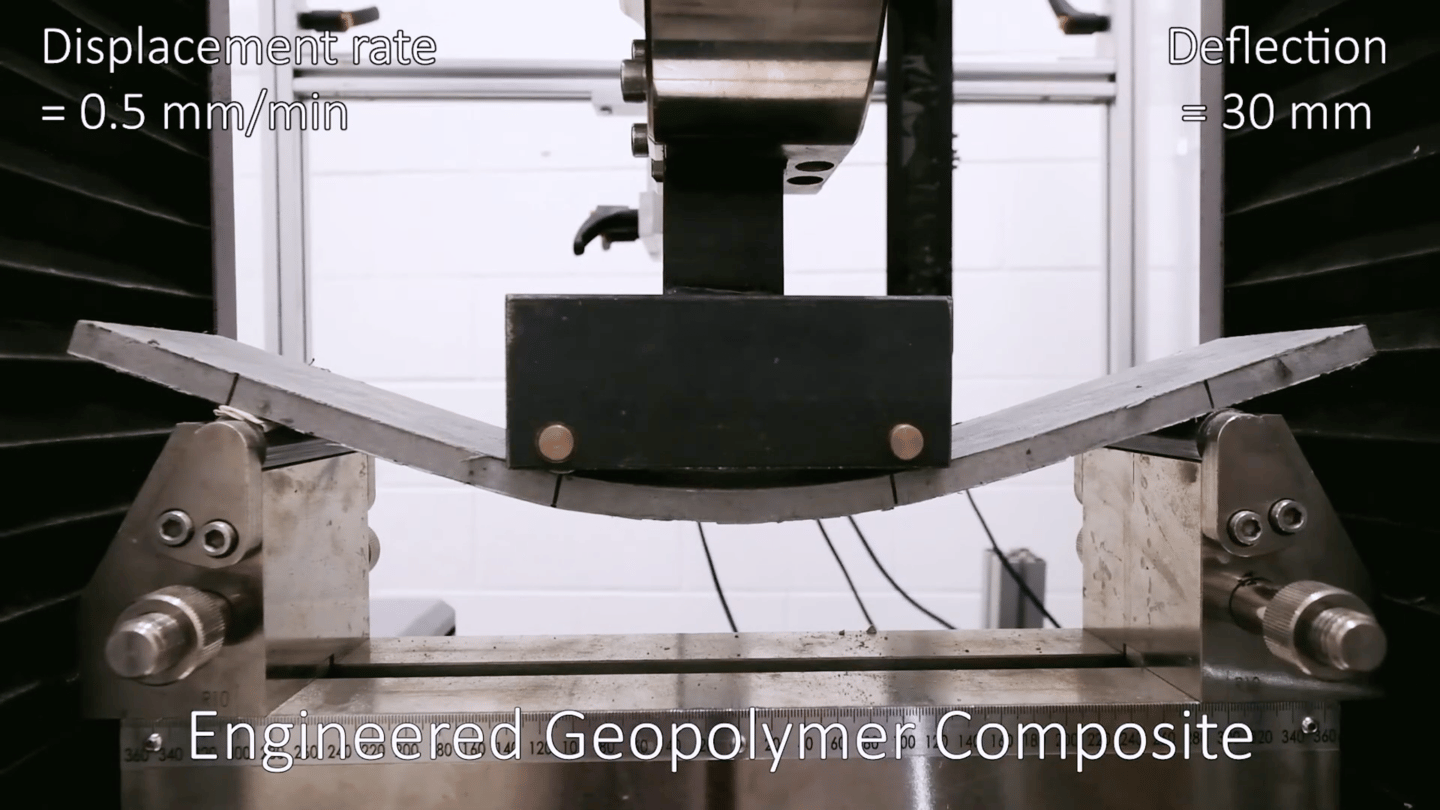 The new bendable concrete is put to the test