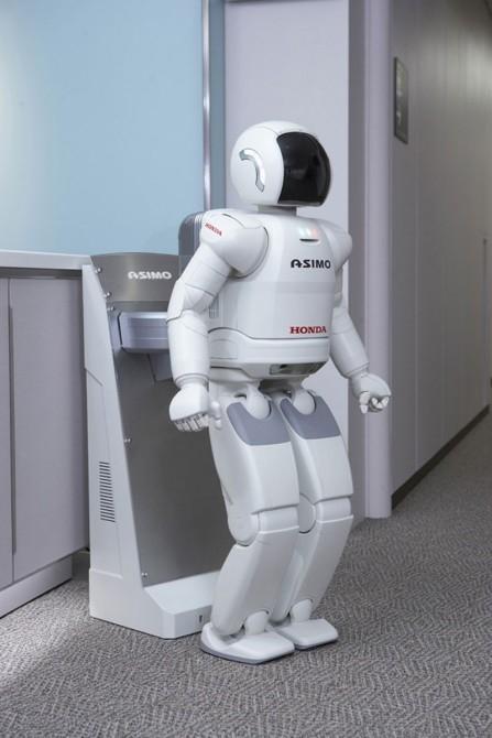 ASIMO at charging station