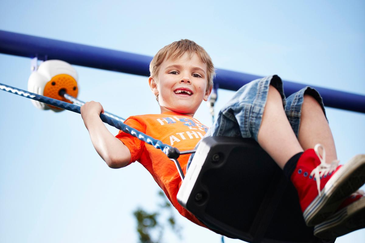 The solar-powered Son-X Octavia attaches to any swing and gives audio cues to encourage kids to go higher