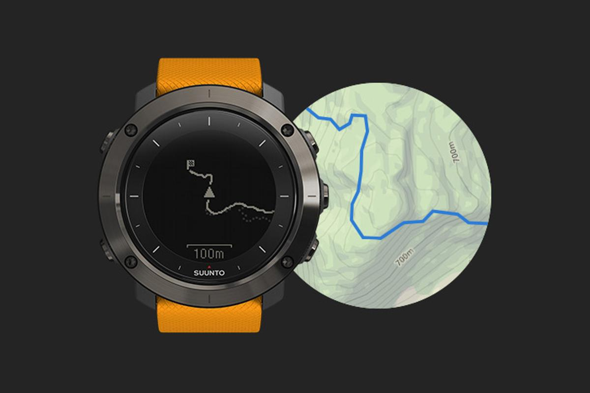 With the Movescount app, Traverse users can view their route on a topographic map before loading it onto the watch