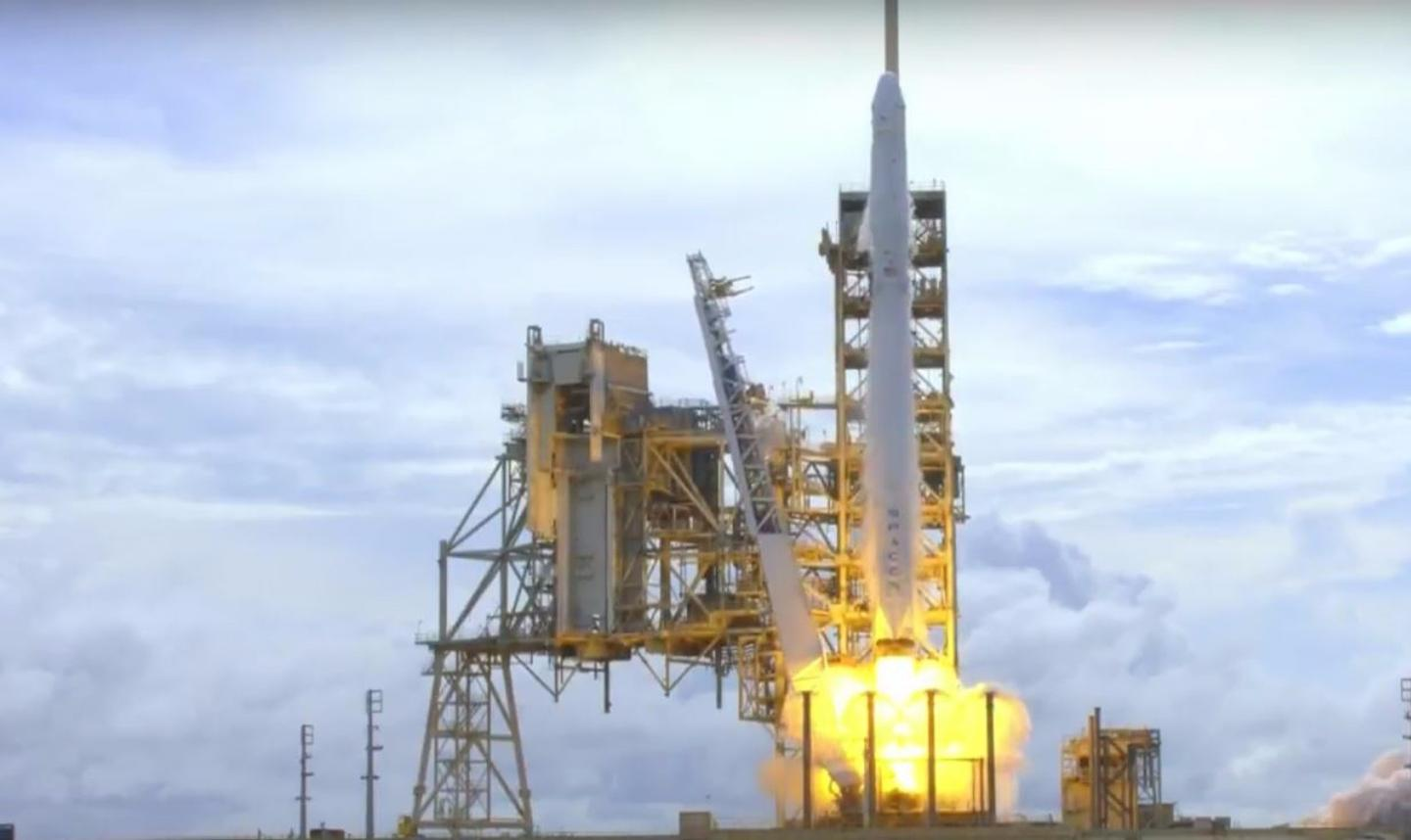 CRS-11 lifting off - the mission marksthe first reflight of a Dragon spacecraft