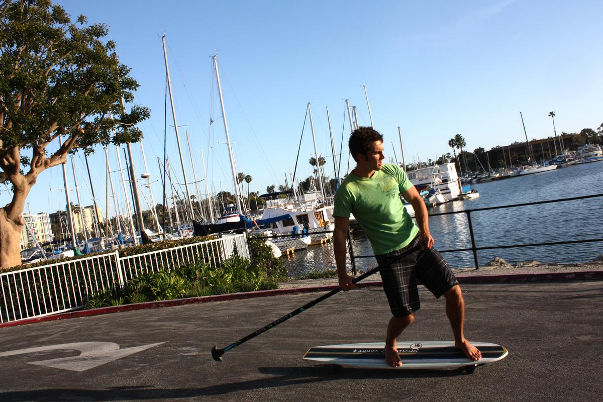 The Bombora is a wide, long board designed specifically for land-based paddling