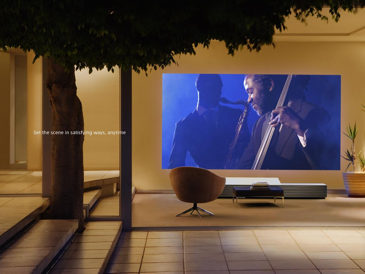 The Sony 4K Ultra Short Throw Projector will be available mid-2014