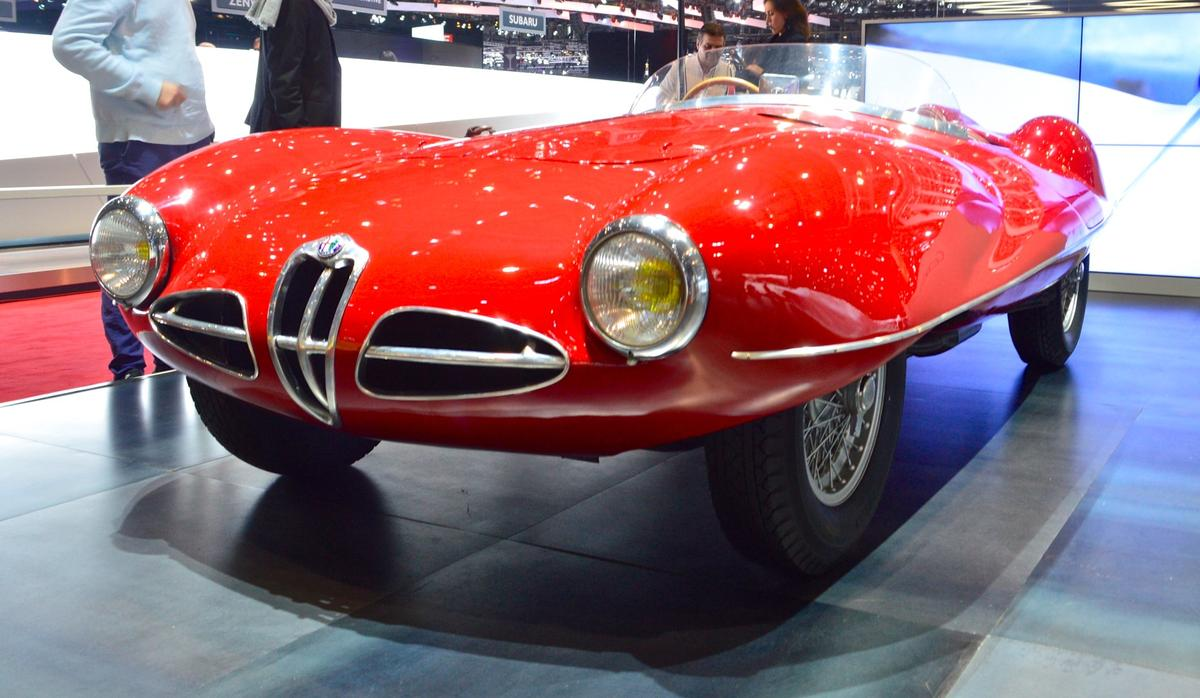 Touring Superleggera shows an original 1952 C52 next to the all-new Disco Volante Spyder