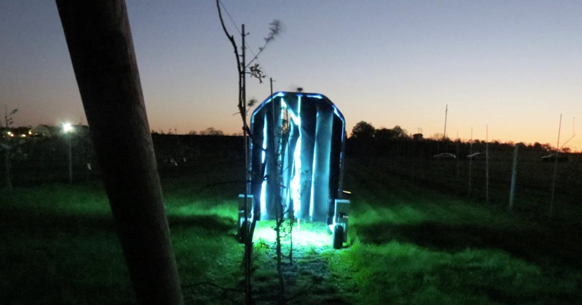 UV-emitting robots roam vineyards to kill fungus