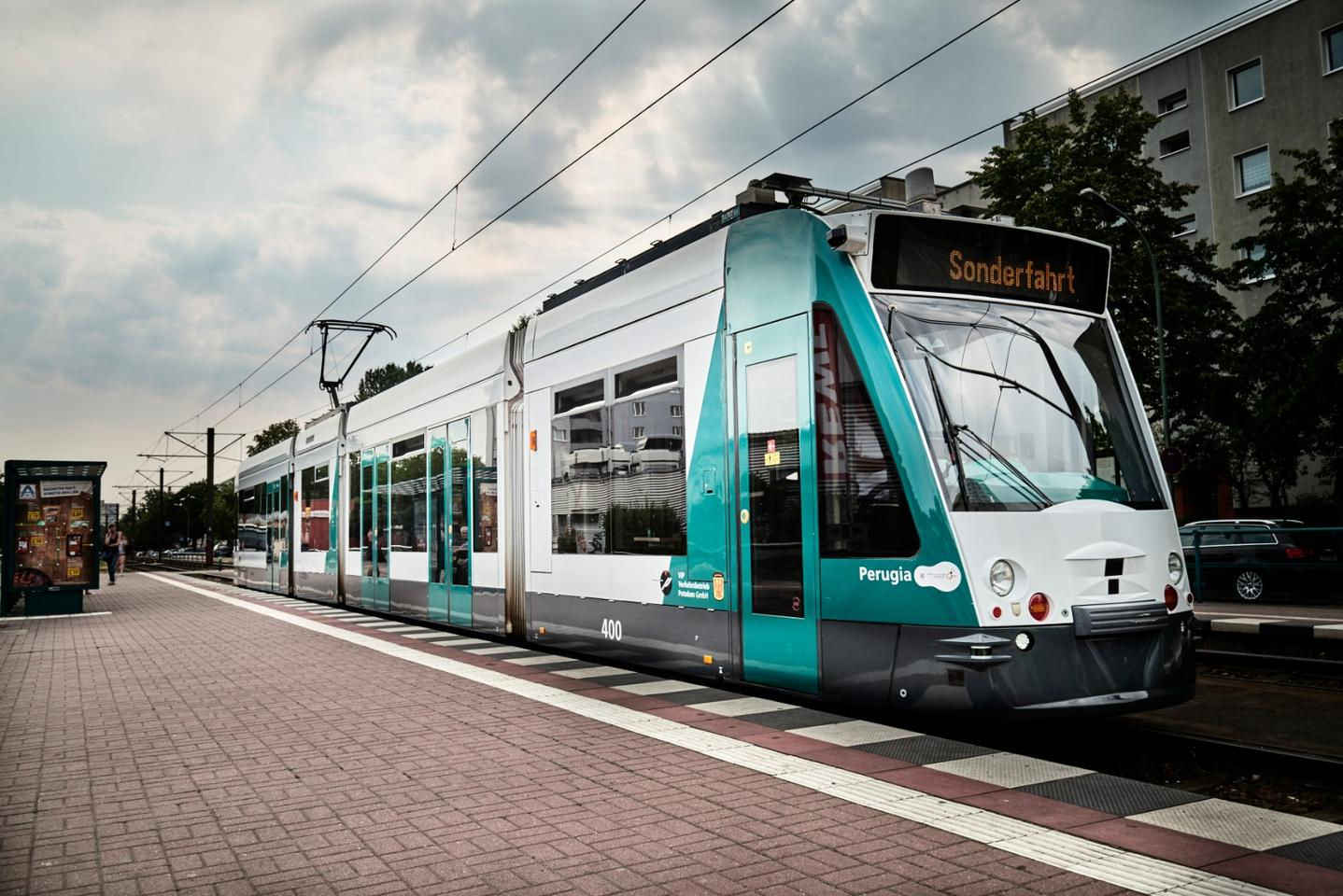 The Combino tram developed by Siemenswas put to work on a 6-kilometer (3.7-mi) section of test track