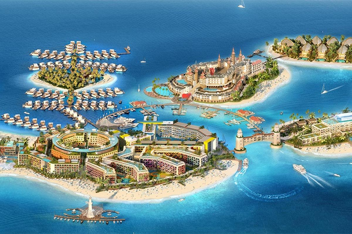 The Heart of Europe comprises six islands of the 300 that make up The World in Dubai