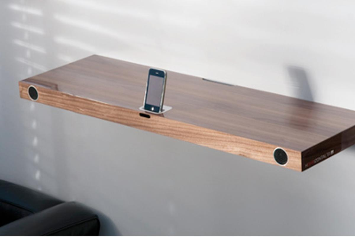 The Finite Elemente Hohrizontal 51 iPod/iPhone dock and shelf