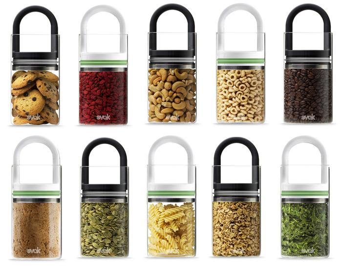 The EVAK food storage system can be used for a wide range of foodstuffs