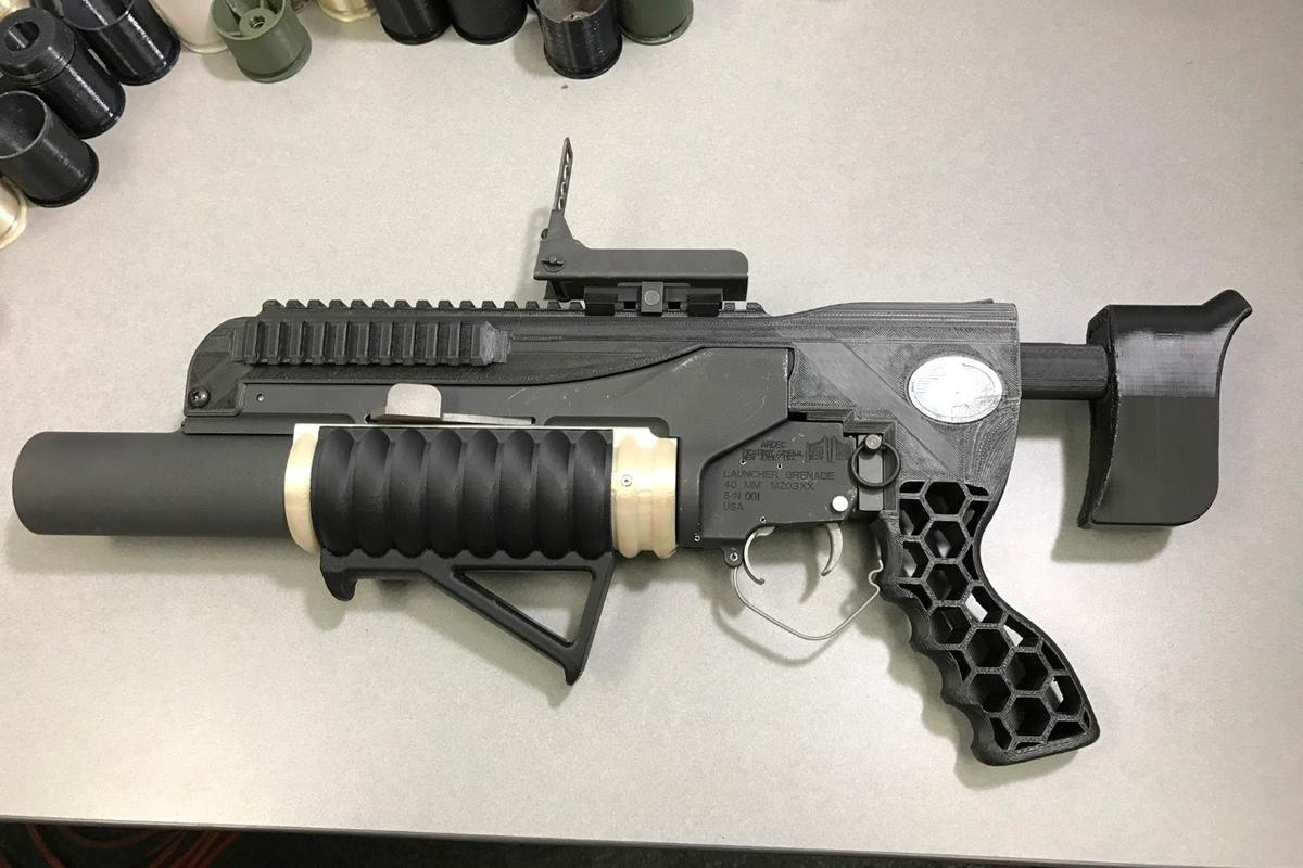 The additive-manufactured RAMBO system includes an NSRDEC-designed standalone kit with printed adjustable buttstock, mounts, grips and other modifications