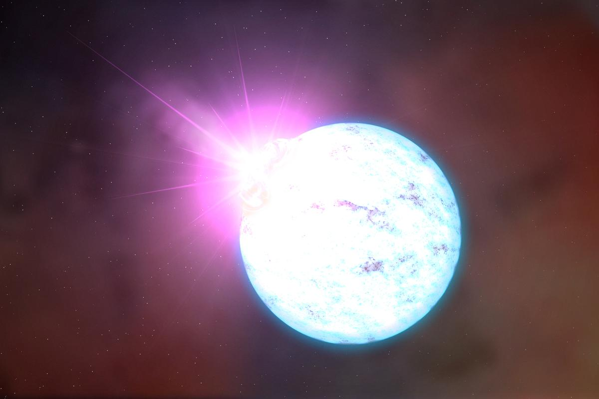 An artist's impression of a magnetar, a type of neutron star that was at the heart of several odd astronomical discoveries in 2020