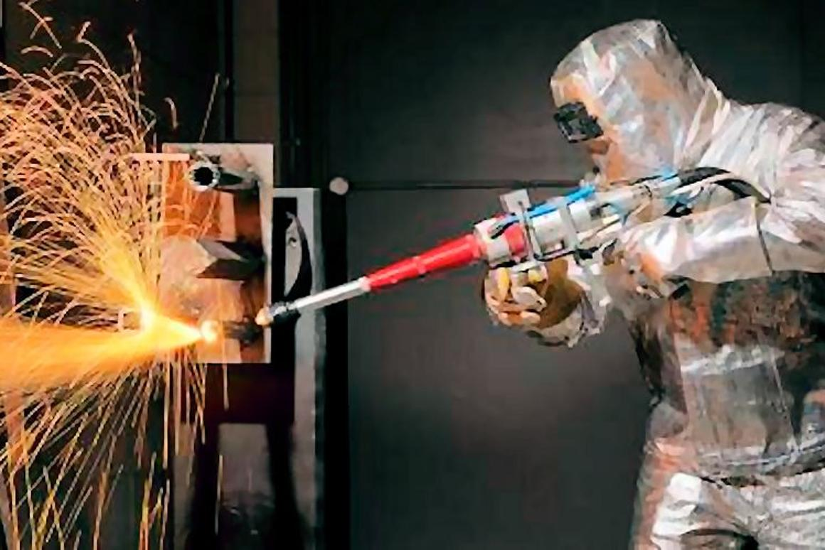 The TWI 5 kw laser torch in operation (Photo: TWI)