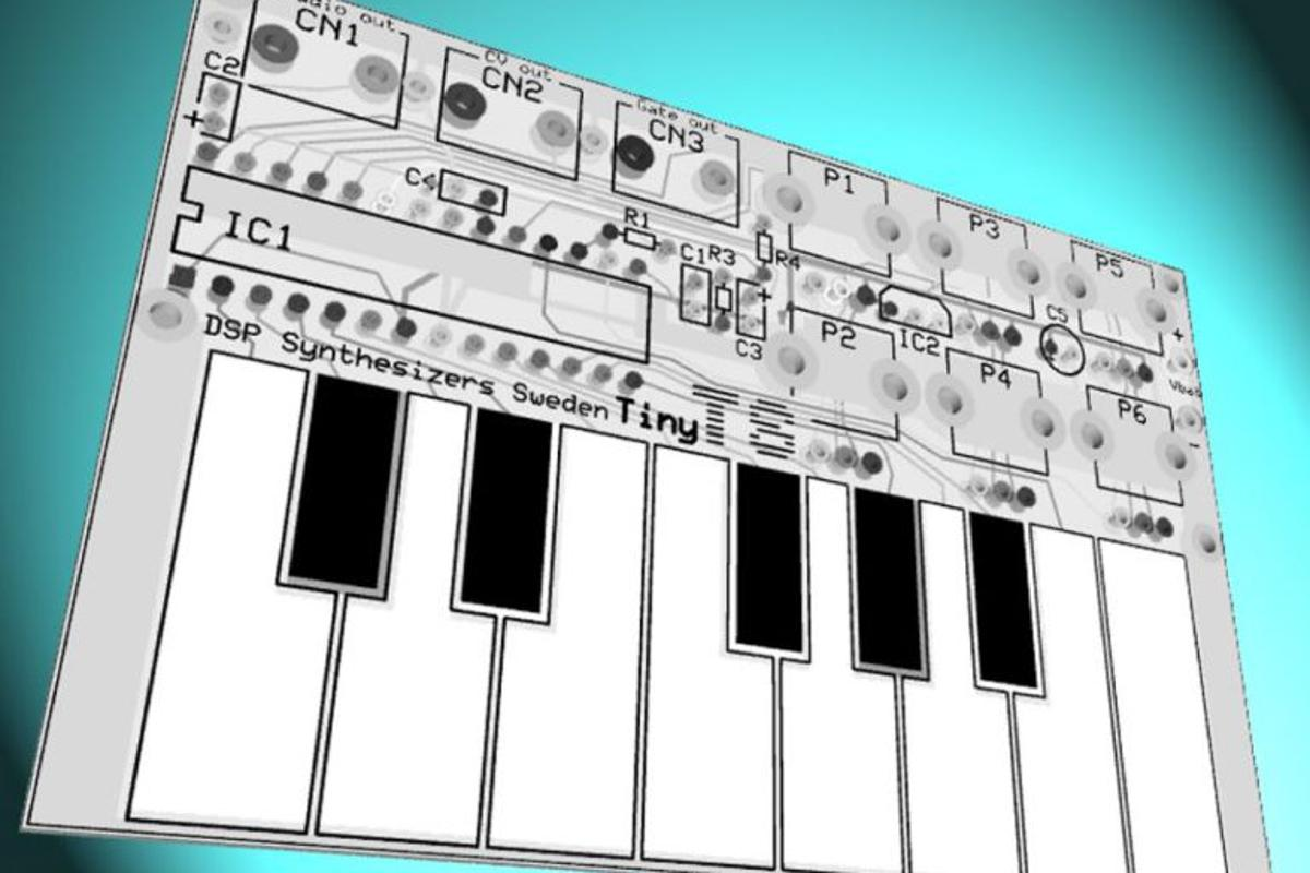 A very limited number of the Tiny TS creditcard-sized open source DIY synths are available to buy now
