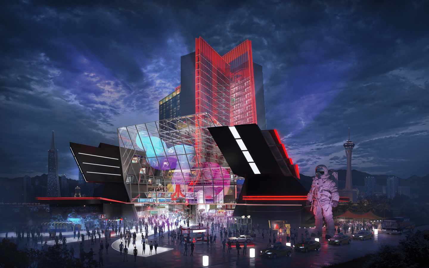 The Las Vegas Atari Hotel is designed by Gensler and does reflect the intended design, though the final building may end up looking quite diffe