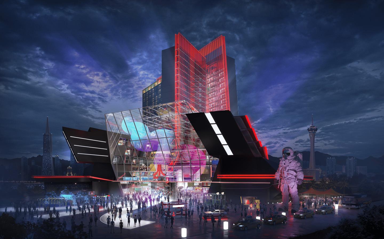 Hotel atari em las vegas é um sonho futurista. Renderizações mostram como será o hotel atari, que será construído a partir de 2021, com temática gamer