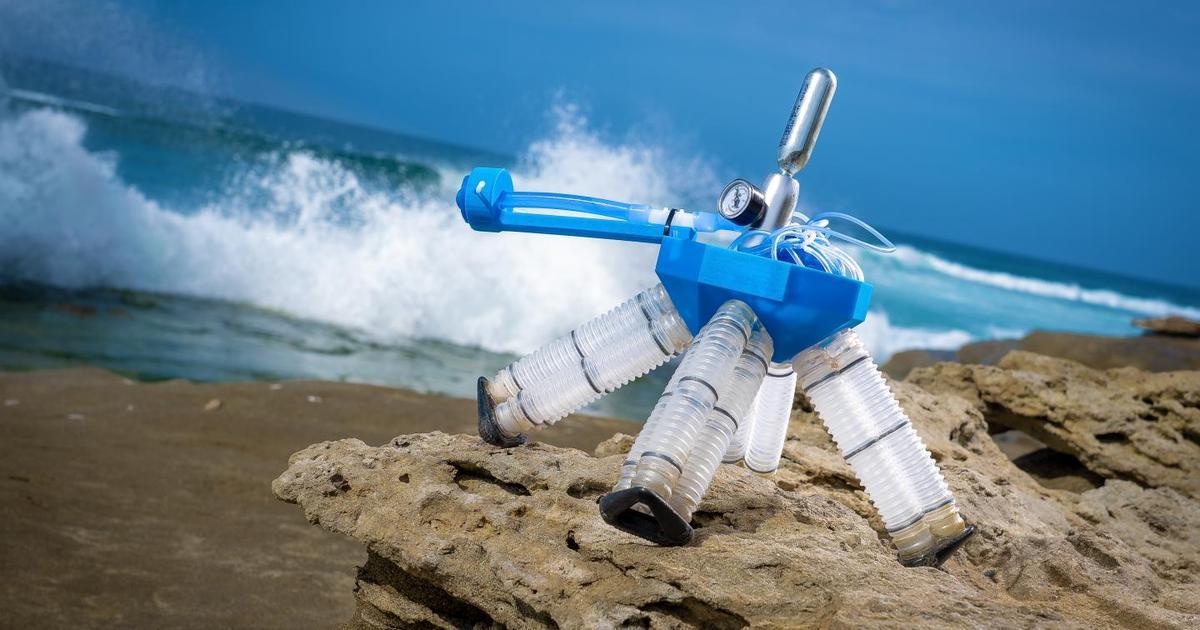 Air-powered robot needs no electronics to walk like a turtle