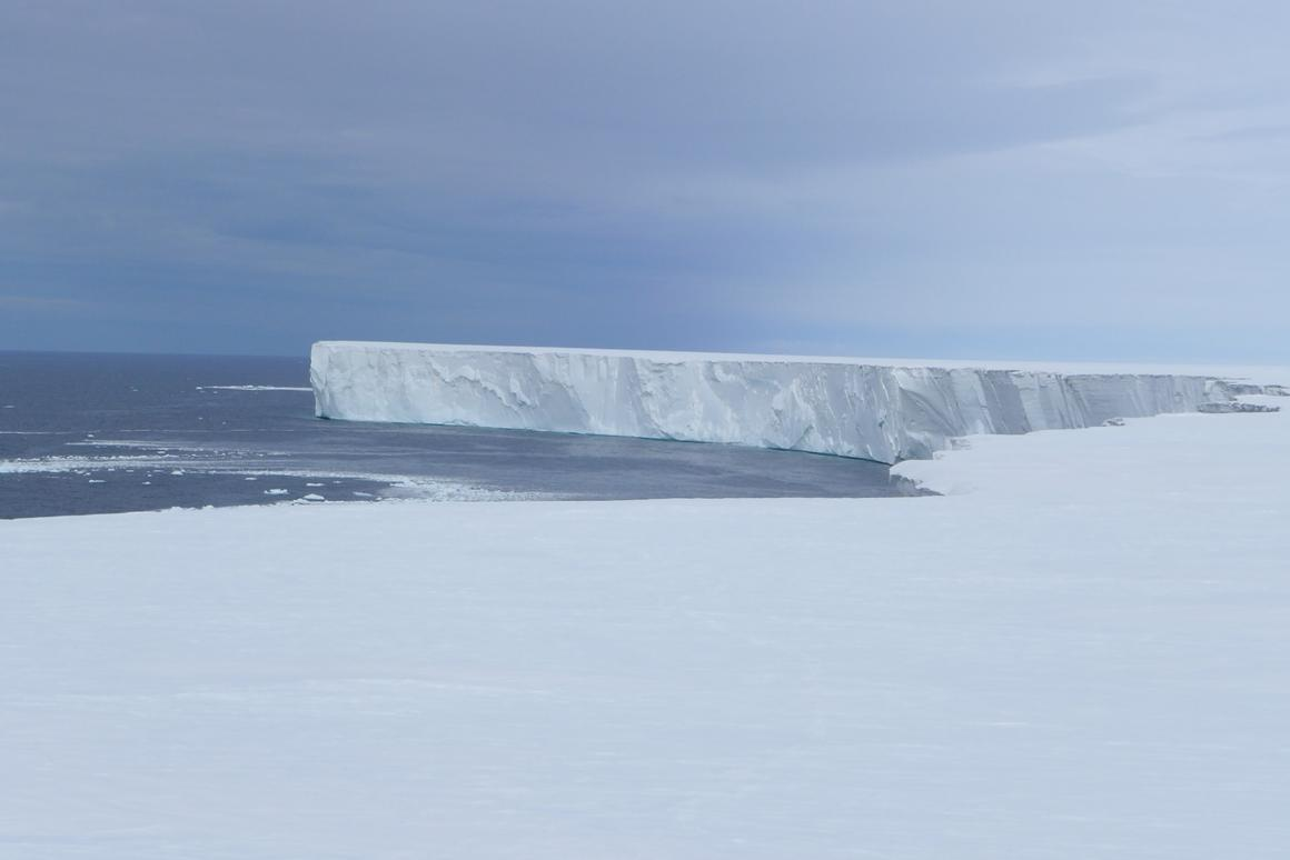 The wall of the Ross Ice Shelf stretches for a staggering 600 km (373 miles) in length