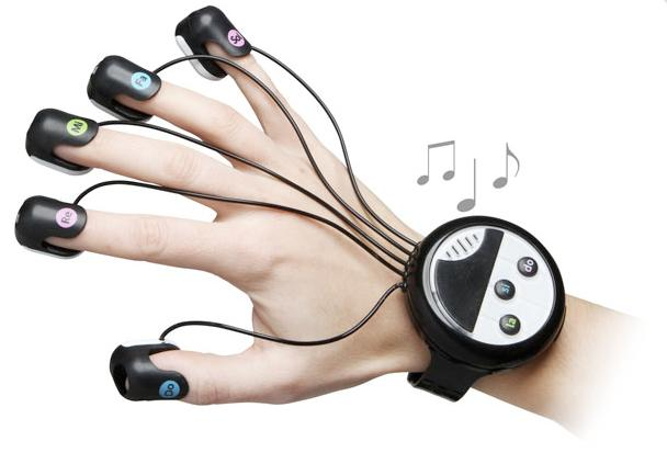 The new full-octave wrist-mounted finger piano